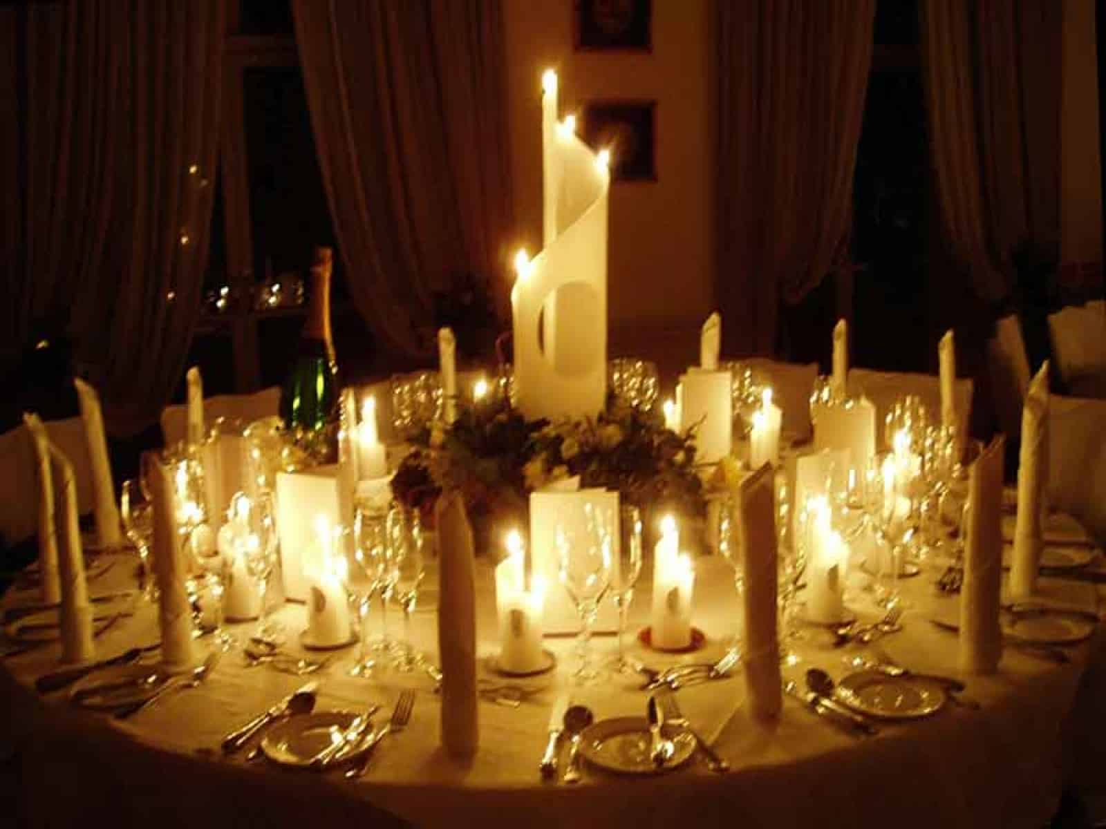 Romantic dinner table decoration - Happy New Year Jolly Farmer Happy New Year Jolly Farmer